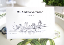 Cincinnati Skyline Place Cards