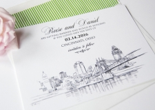 Cincinnati Skyline Save the Date Cards