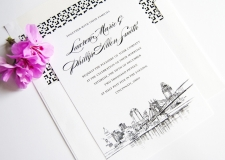 Cincinnati Skyline Wedding Invitations