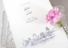 Cincinnati Skyline Wedding Programs