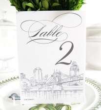 Cincinnati Skyline Table Numbers