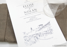 Cleveland Skyline Wedding Programs