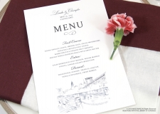cleveland skyline menu cards