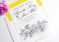 Columbus Skyline Save the Date Cards