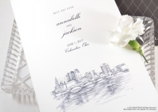 Columbus Skyline Wedding Programs