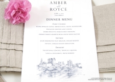 columbus skyline menu cards
