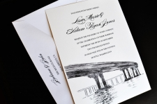 Coronado Bridge Skyline Wedding Invitations
