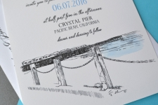55 Crystal Pier Wedding Invitations for Dina