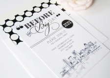 Baltimore Skyline Rehearsal Dinner Invitations