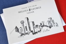 Dallas Skyline Wedding Card Thank You Cards