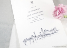 Dallas Skyline Wedding Programs
