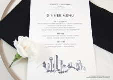 dallas menu cards