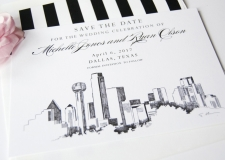 Dallas Skyline Save the Date Cards
