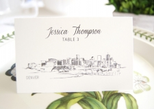 Denver Skyline Place Cards