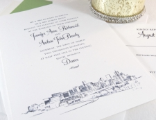 Denver Skyline Wedding Invitations