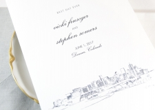 Denver Skyline Wedding Programs