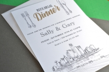 Austin Skyline Rehearsal Dinner Invitations