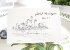 Detroit Skyline Place Cards
