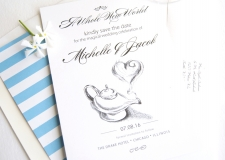 fairytale, aladdin Save the Date Cards