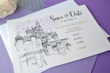 Disney Fairytale Wedding Save the Date Cards
