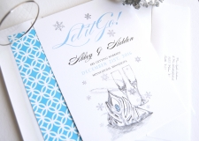 Frozen, Fairytale Wedding Save the Date Cards