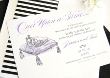 Fairytale Wedding Pillow and Tiara Save the Date Cards