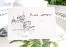 Disney Skyline Place Cards