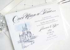 Disney World Castle Save the Date Cards