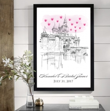 disneyland castle wedding guestbook