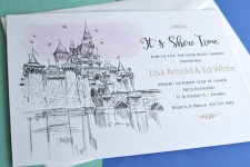 Disneyland Skyline Rehearsal Dinner Invitations