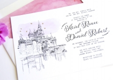 Disneyland Fairytale Skyline Wedding Invitations