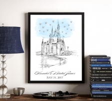 disney world castle wedding guestbook