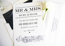 El Paso Skyline Rehearsal Dinner Invitations
