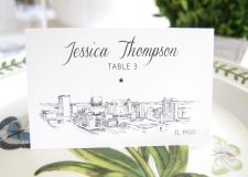 El Paso Skyline Place Cards