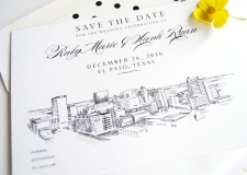 El Paso Skyline Save the Date Cards