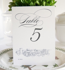 El Paso Skyline Table Numbers