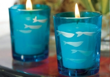 Fish Teal Light Holders