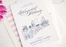 Jacksonville Skyline Save the Date Cards