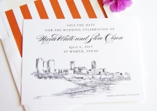 Fort Worth, Texas Save the Date Cards