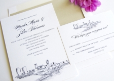 Fort Worth Skyline Wedding Invitations