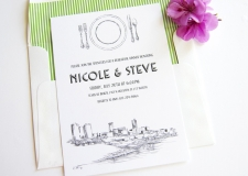 Fort Worth Skyline Rehearsal Dinner Invitations