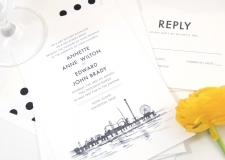 Galveston, Texas Skyline Wedding Invitations