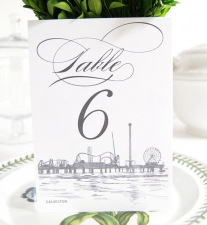Galveston Skyline Table Numbers