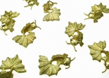 Gold Fish Pocket Charms