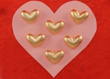 Golden Heart Pocket Charms