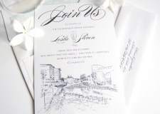 Greenville Skyline Rehearsal Dinner Invitations