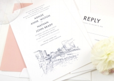 Greenville Skyline Wedding Invitations