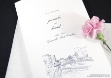 Greenville Skyline Wedding Programs