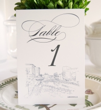Greenville Skyline Table Numbers