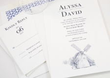 Hamptons Skyline Wedding Invitations